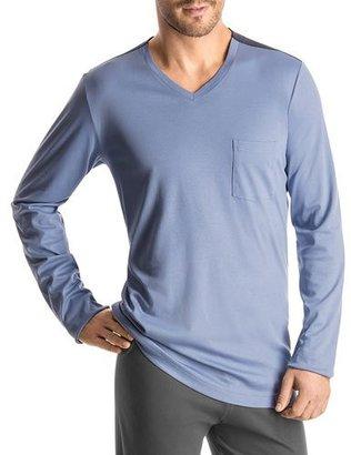 Hanro Madison Ave Pajama Shirt $196 thestylecure.com