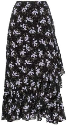 By Ti Mo By Timo Sky floral print ruffle wrap skirt