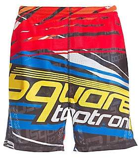 DSQUARED2 Men's Taptronic Graphic Perforated Shorts