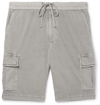 James Perse Cotton-Jersey Drawstring Cargo Shorts - Men - Gray
