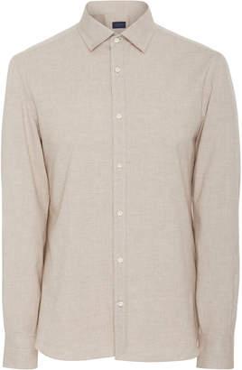 EIDOS Slub Cotton Flannel Button-Up Shirt