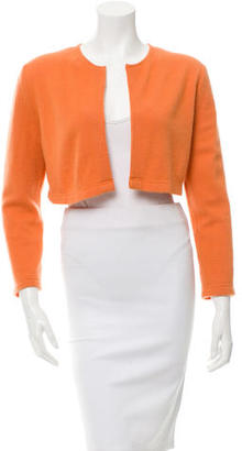 Vera Wang Long Sleeve Cropped Cardigan $65 thestylecure.com
