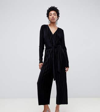 Vero Moda Tall Velvet Pleated Jumpsuit