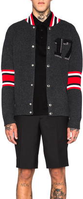 Givenchy 17 Patch Cardigan $1,425 thestylecure.com