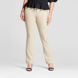 A New Day Women's Bootcut Curvy Bi-Stretch Twill Pants Khaki 0