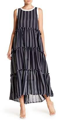 Gracia Stripe Layered Ruffle Dress