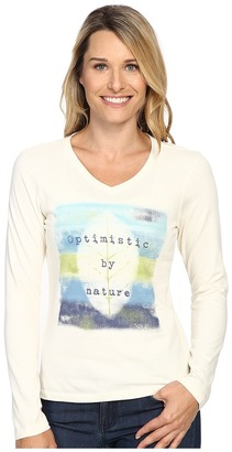 Life is good Optimistic By Nature Long Sleeve Crusher Vee $30 thestylecure.com