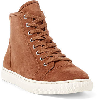 Ralph Lauren Suede High-Top Sneaker $98 thestylecure.com