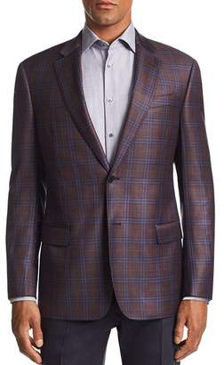 Emporio Armani G-Line Plaid Tailored Fit Wool Jacket