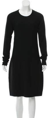 Donna Karan Wool-Blend Knee-Length Dress