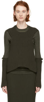 Ports 1961 Khaki Double Layer Crewneck Sweater