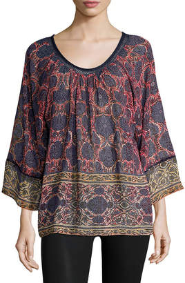 Plenty by Tracy Reese Printed Dolman Blouse