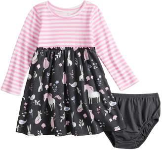 Baby Girl Jumping Beans Glitter Pattern Dress