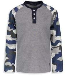 Andy & Evan Baby Boy's Camo Henley Shirt