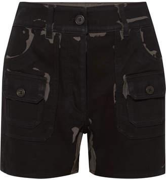 Prada Printed Denim Shorts - Black
