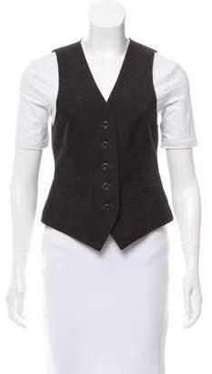 Theory Corduroy Asymmetrical Vest