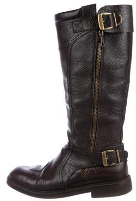 Dries Van Noten Leather Tall Boots