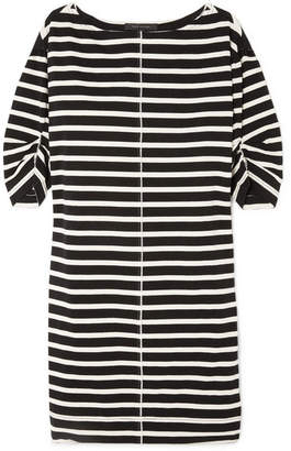 Marc Jacobs Printed Striped Cotton-jersey Mini Dress - Black