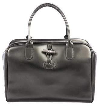 Longchamp Metallic Leather Handle Bag