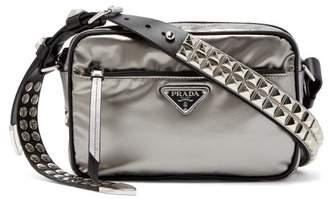 Prada New Vela Nylon Cross Body Bag - Womens - Silver