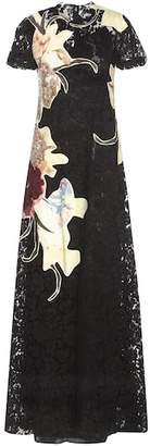 Valentino Lace dress with floral appliqué