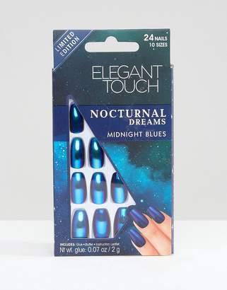 Elegant Touch Nocturnal Dreams Coffin Holographic False Nails