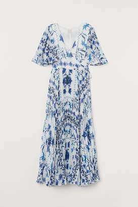 H&M Pleated Wrap Dress - Blue