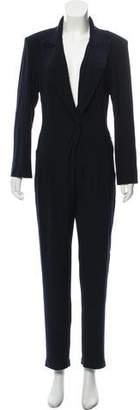 Norma Kamali Jersey Long Sleeve Jumpsuit