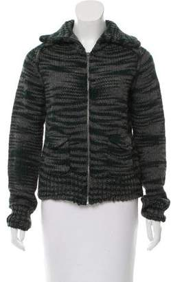 Thakoon Addition Wool-Blend Zip-Up Cardigan