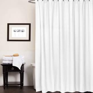 "Generic Waffle Weave Cotton Fabric Bathroom Shower Curtain, 72"" x 72"", White"