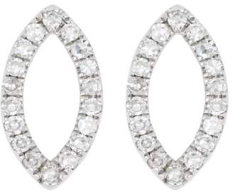 88af15f51 Carriere Sterling Silver Pave Diamond Open Marquise Stud Earrings - 0.11 ctw