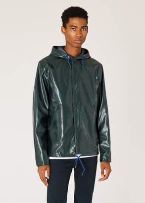 Paul Smith Men's Showerproof Dark Green Hooded Jacket