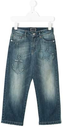 Versace distressed Star jeans