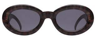 MinkPink Retrospect Grey Leopard Sunglasses