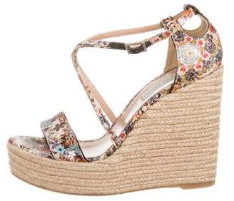 459c9c1676d Tabitha Simmons Floral Print Wedge Sandals