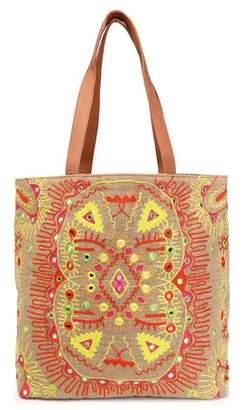 Antik Batik Embroidered Canvas Tote
