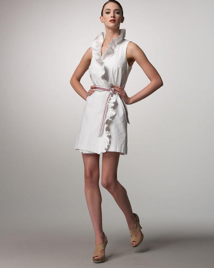 Milly Ruffled Wrap Dress