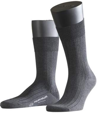 Falke Men's 1 Pair Milano Rib 100% Fil d'Ecosse Cotton Socks