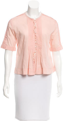 See By Chloe See by Chloé Short Sleeve Button-Up Blouse