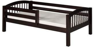 DAY Birger et Mikkelsen Camaflexi Twin Size Bed with Front Guard Rail - Arch Spindle Headboard - Cappuccino Finish