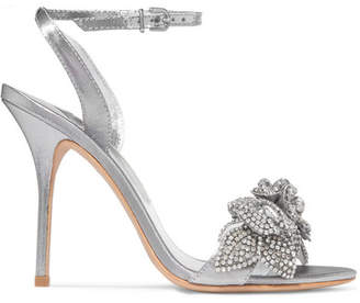 Sophia Webster Lilico Embellished Lamé Sandals - Silver