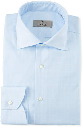 Canali Men's Glen Plaid Cotton Dress Shirt