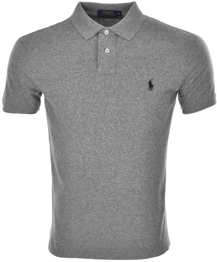 Ralph Lauren Custom Fit Polo T Shirt Grey