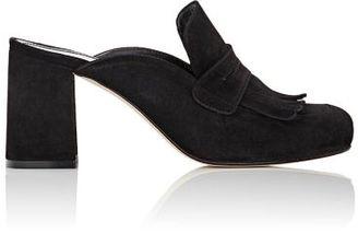 Barneys New York Women's Kiltie Mules-BLACK $285 thestylecure.com