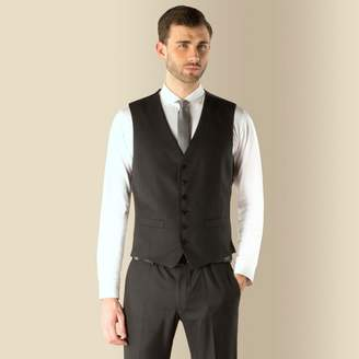 Red Herring Charcoal Puppytooth Super Slim Fit 6 Button Waistcoat