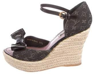 Louis Vuitton Monogram Espadrille Wedges