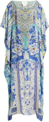 CAMILLA Porcelain Paradise-print silk kaftan $600 thestylecure.com