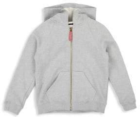 Little Marc Jacobs Little Girl's & Girl's Logo Stripe Cotton Hoodie