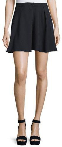 See By Chloe See by Chloe High-Waist A-Line Mini Skirt, Dark Night