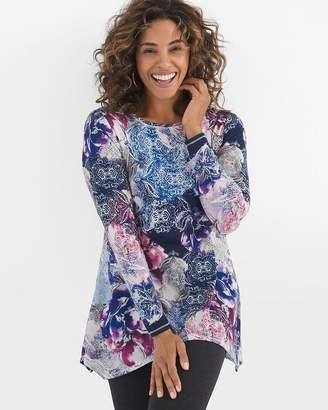 Chico's Chicos Cool Floral Tunic
